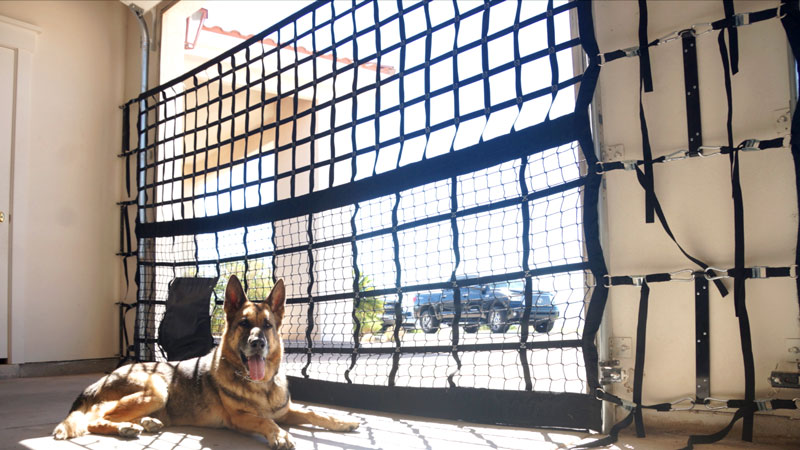 K9 Car Garage Door Net